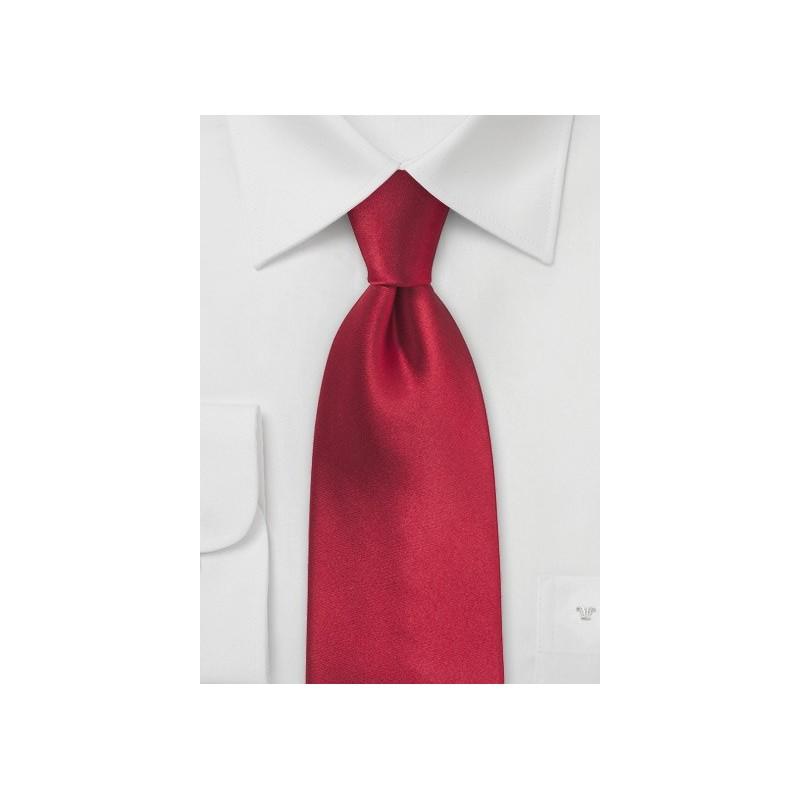 Cherry Red Mens Tie in XL