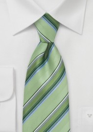 Tonal Green Striped Tie