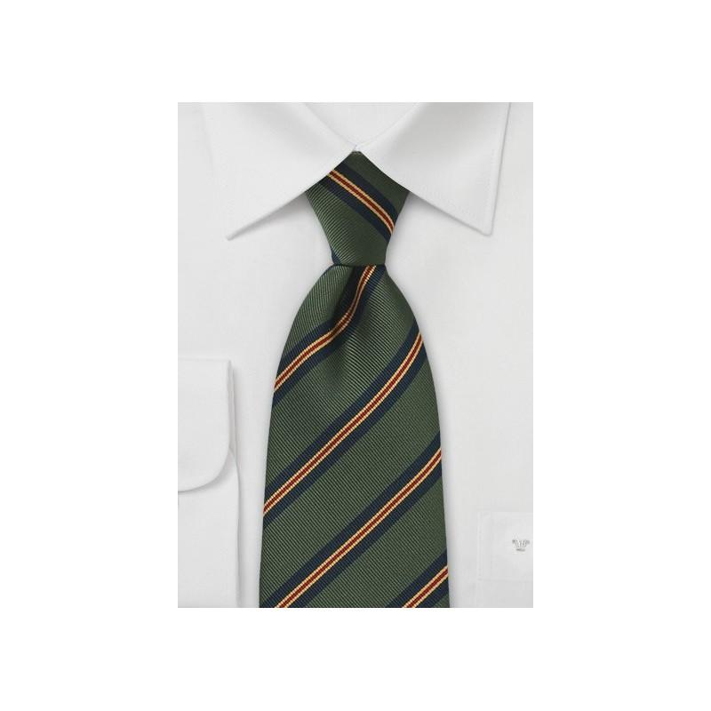 Regimental Tie in Hunter Green