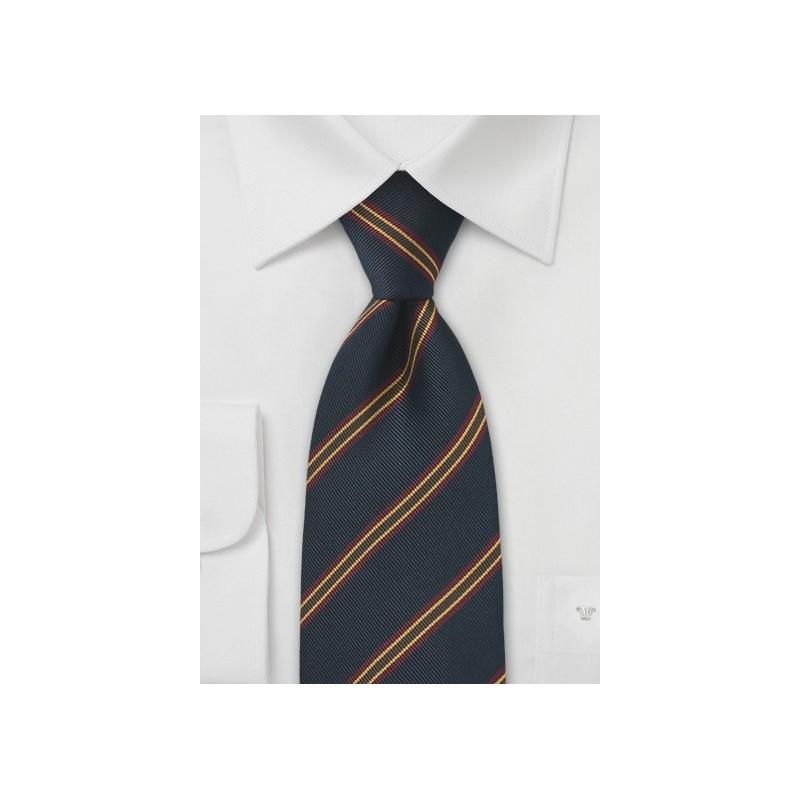 British Repp Tie in Navy