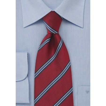 Regimental Tie in Deep Red