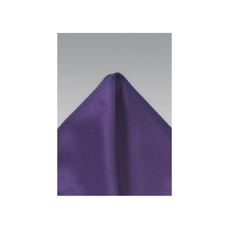 Solid Purple Pocket Square