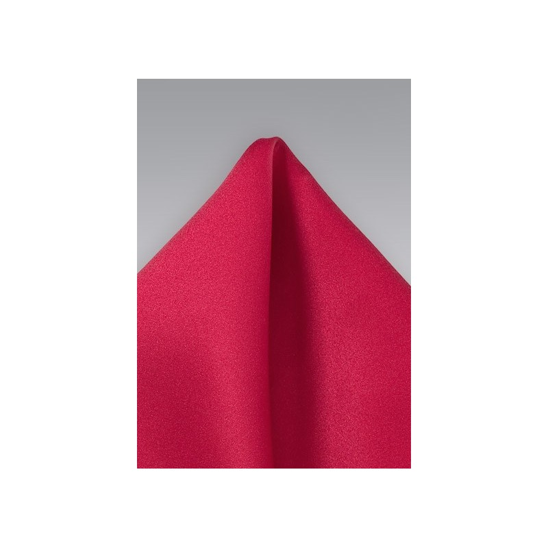 Cherry Red Pocket Square