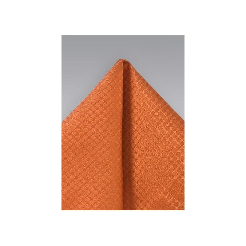 Trendy Orange Pocket Square