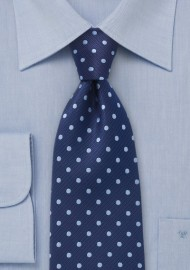 Polka Dot Tie in Two Blues