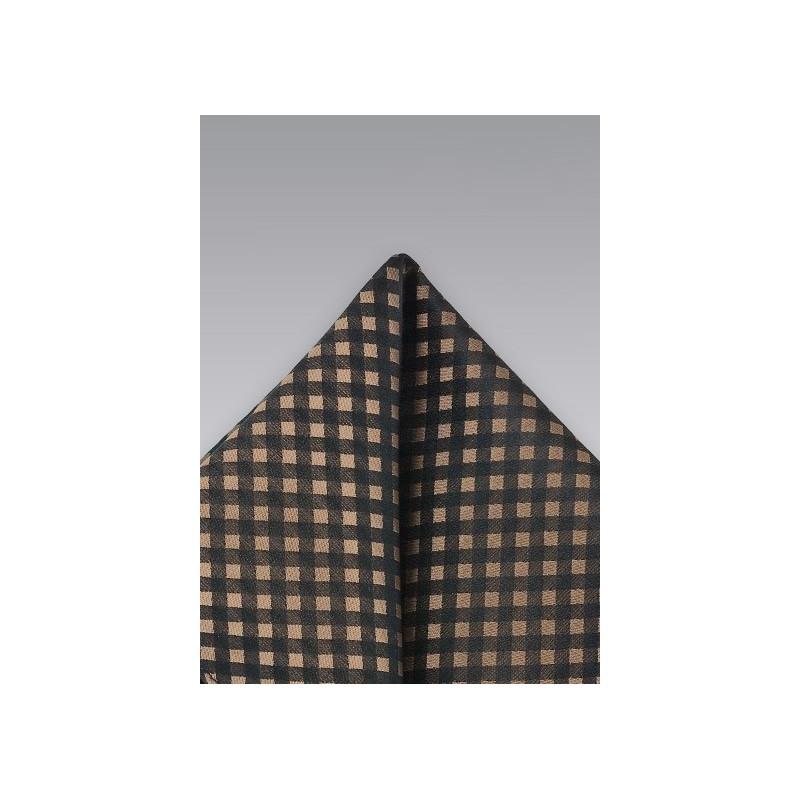 Black Aficionado Silk Pocket Square