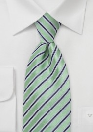 Striped Tie in Citrus Green