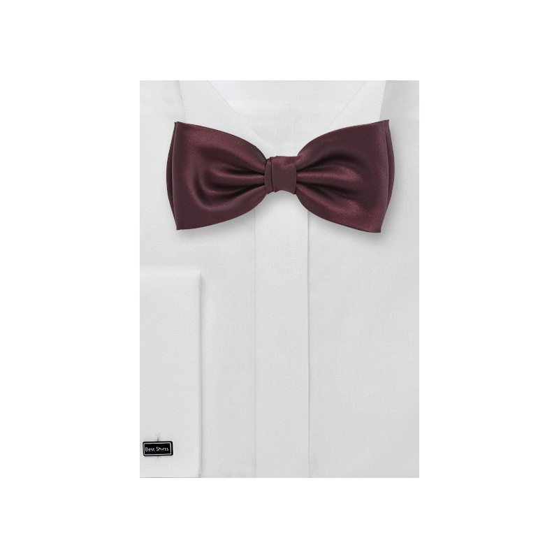 Mahogany Brown Bow Tie