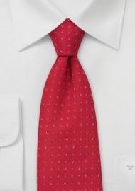 Scarlet Red Floral Tie