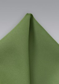 Solid Fern Green Pocket Square