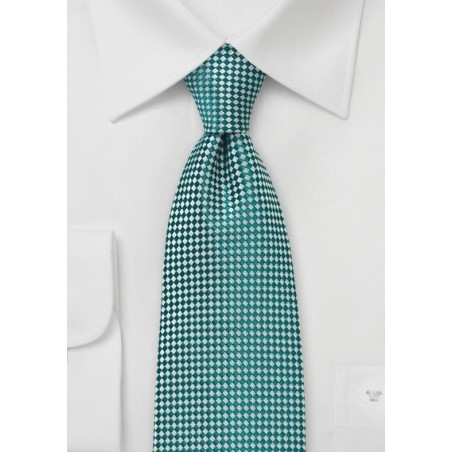 Green and Silver Diamond Tie