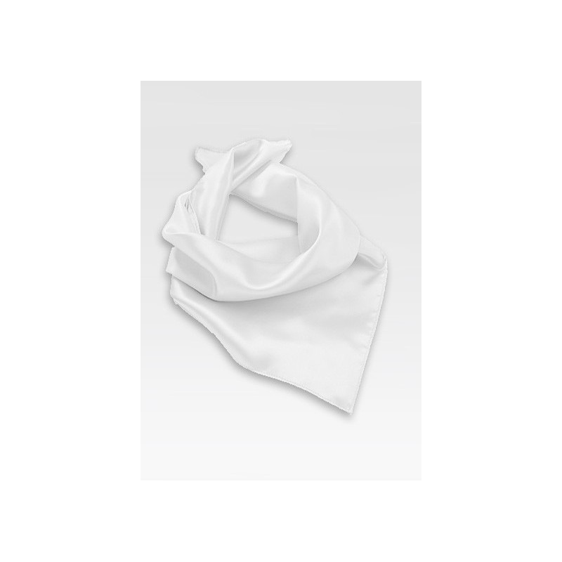 Bright White Women's Neck Scarf
