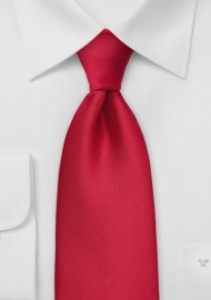 Solid Cherry Red Mens Tie