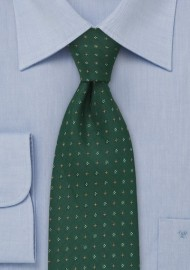 Hunter Green Floral Tie