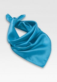 Bright Cyan Blue Womens Scarf