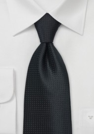 Textured Black Tie