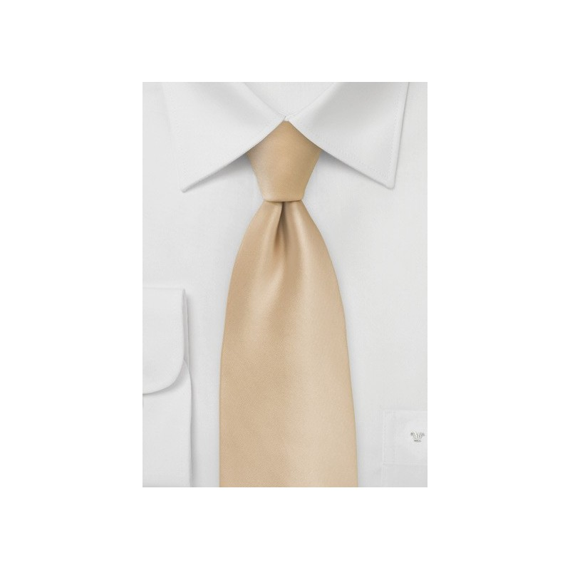 Solid Champagne Tie