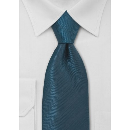 Extra Long Dark Teal Neck Tie