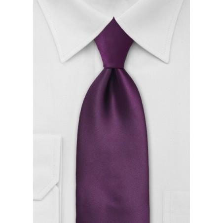 Extra Long Length Berry Purple Tie