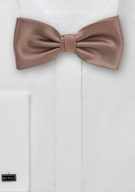 Latte Brown Bow Tie
