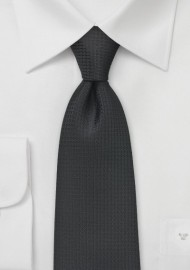 Modern and Textured Black Tie