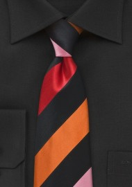 Bold Striped Tie in Sunmer Colors