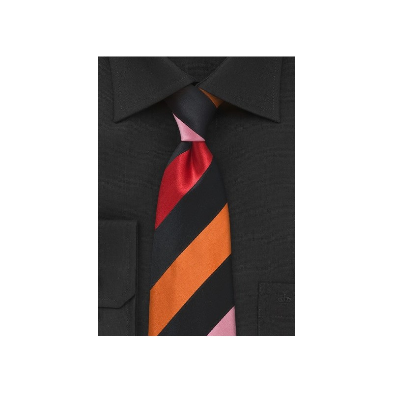 Bold Striped Tie in Sunmer Colors