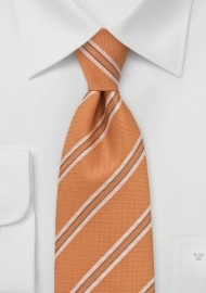 Light Tangerine and Tan Tie