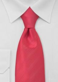 Kids Necktie in Watermelon Red