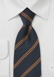 XL Length British Repp Tie in Navy