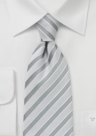 Light Silver Striped Tie