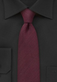 Bordeaux Red Skinny Tie by BlackBird