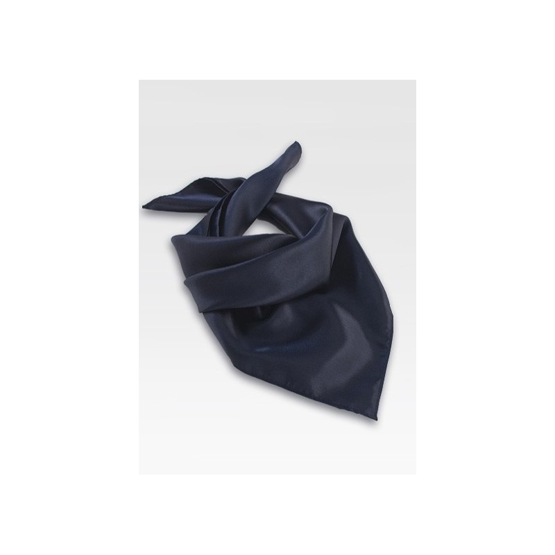 Dark Navy Blue Neck Scarf