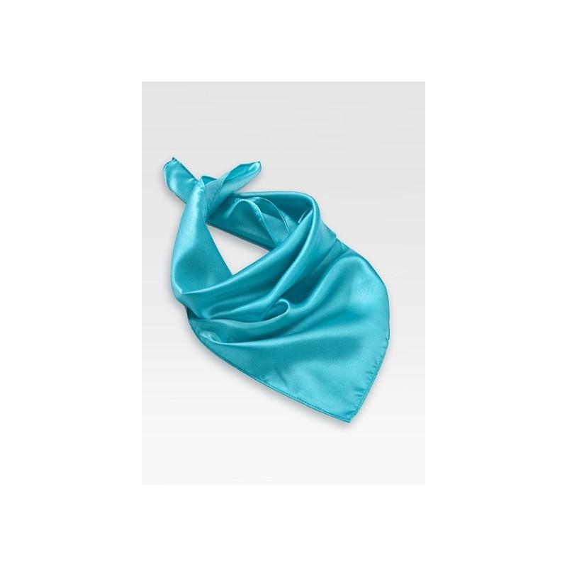 Bright Aqua Blue Womens Scarf