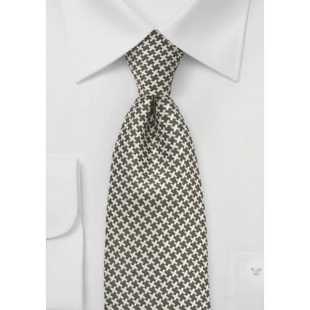 Retro Pattern Tie in Fern Green