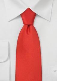 Scarlet Red Necktie in Kids Size