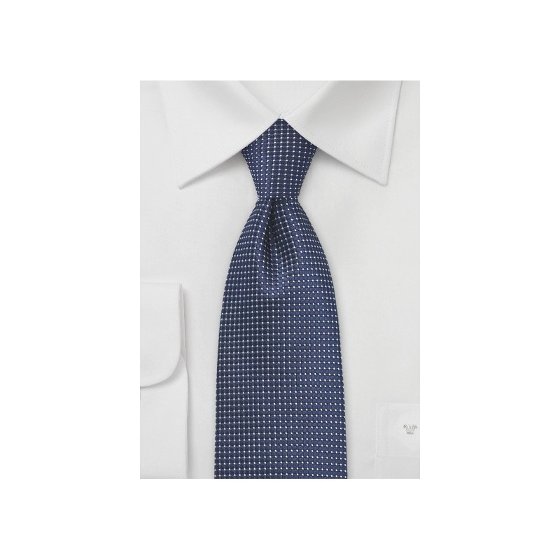 Pin Dot Tie in Navy Blue