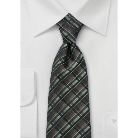 Modern Tie in Autumn Greens