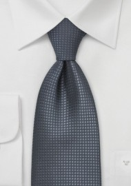 Elegant Dark Gray Kids Silk Tie