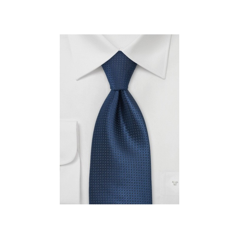 Textured Tie in Blue Made in Kids Size