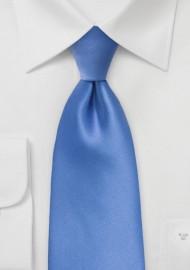 Solid XL Length Tie in Warm Riviera Blue