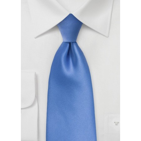 Solid XL Length Tie in Warm Riviera Blue