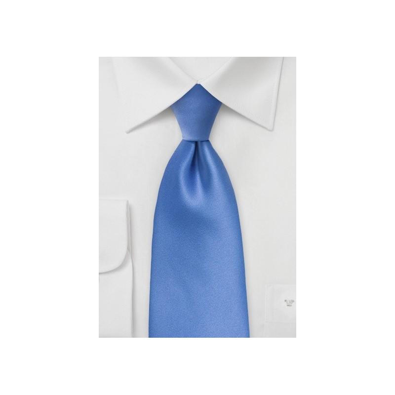 Solid Kids Tie in Warm Riviera Blue