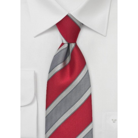 Graphic Tie in Vivid Red