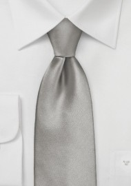 Solid Mercury Silver Kids Neck Tie