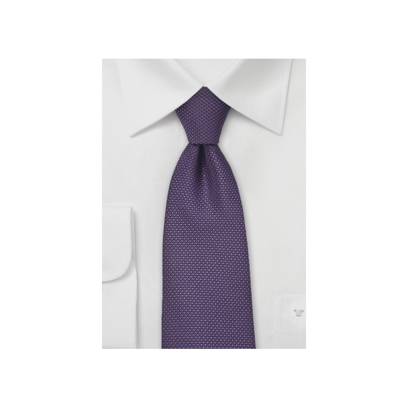 Grape Colored Tie with Grenadine Texture