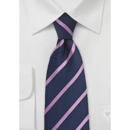 Dark Eggplant and Pink Striped Tie