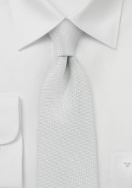Matte Textured Necktie in Light Ivory