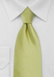 Light Pear Green Necktie in XL Length
