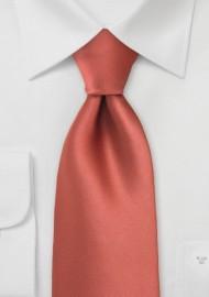 Cognac Orange Color Tie in XL Length